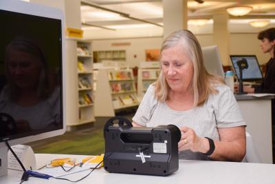 Linda Swan came to Schaumburg Library when she wanted to transfer her home movies to a digital format.