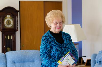 Marlene Jones appreciates Schaumburg Library's home delivery service because it's not easy for her to drive these days.