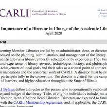 The Importance of a Director in Charge of the Academic Library.