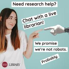 Lewis University Library Research Chat