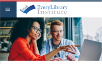 Screen capture of EveryLibrary Institute homepage.