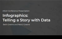 "Title slide of ""Infographics: Telling a Story with Data"" presentation."
