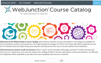 Screen capture of WebJunction Course Catalog homepage.